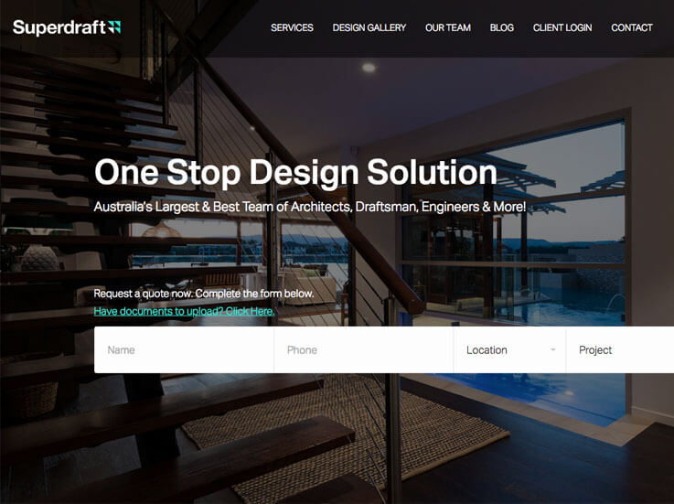 Australia's best architecture firm website created by wordpress