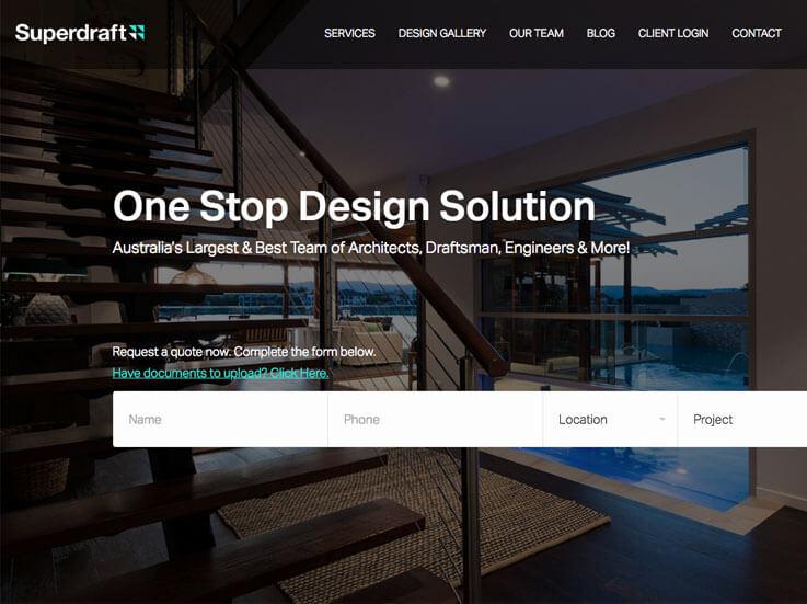 Australia's best architecture firm website created by wordpress